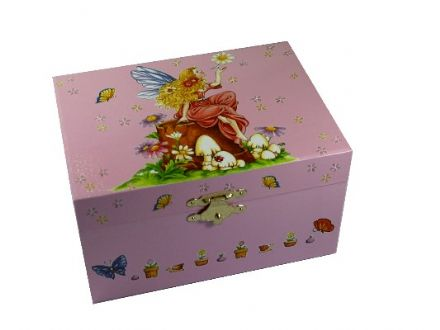 Pink Fairy Childrens Music Box CB22045